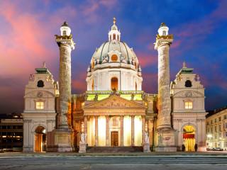 Vienna – Karlsplatz – St. Charles's Church – Austria